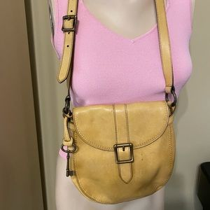🛍FOSSIL CAMEL COLOR LEATHER CROSSBODY🛍